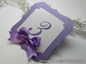 Broj stola za svadbenu svečanost - Purple Frame