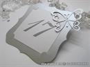 Broj stola za svadbenu svečanost - Silver Frame