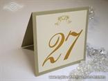 broj stola za vjenčanje krem šampanj s anđelom