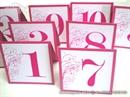 Broja stola za svadbenu svečanost - Ciklama Beauty