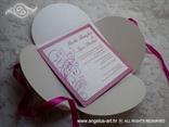 ciklama pozivnica za vjenčanje u omotnici na rasklapanje