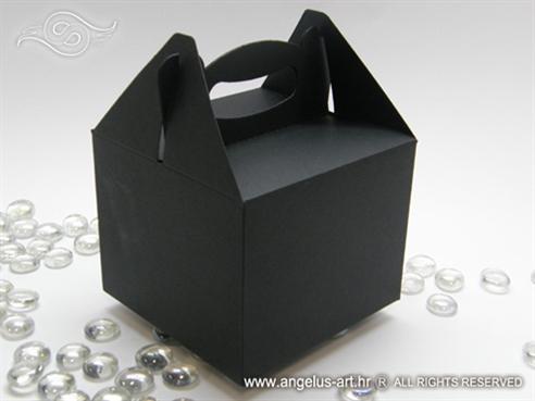 crna elegantna kutija za pakiranje kolača