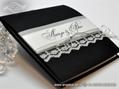 Pozivnica za vjenčanje Glorius Black Lace