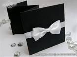 crna zahvalnica za vjencanje tvrdih korica s bijelom masnom