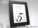 Okviri za samostalnu izradu broja stola za svadbenu svečanost