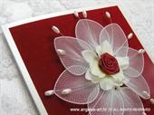Ekskluzivna čestitka - White Flower