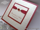 Pozivnica za vjenčanje - Per Sempre red Butterfly