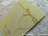 detalj natural zahvalnice s prozirnim listom