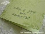 detalj zelene zahvalnice s tiskom imena