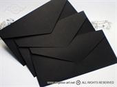 Crna kuverta 21,5x11cm