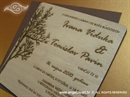 Pozivnica za vjenčanje Drvena pozivnica - Ljepota drveta