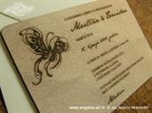 Pozivnica za vjenčanje Drvena pozivnica - leptir