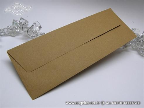 eko natural smeda kuverta uska za vjencanje