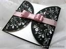 ekskluzivna crno roza  pozivnica