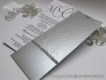 elegantne srebrne pozvinice sa cirkonima i strukturom