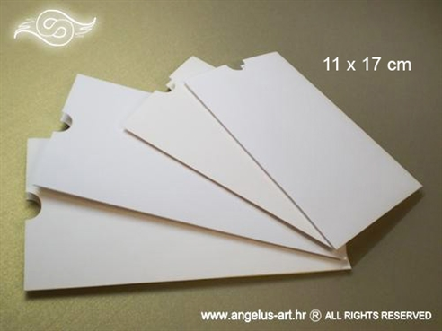 etui omotnice krem mat karton za samostalnu izradu pozivnica