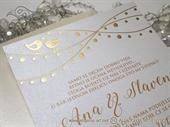 Pozivnica za vjenčanje - Birds Line