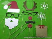 Photo booth props - New Year´s Party props