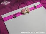 fuksija zahvalnica s rozom ružom i paus papirom