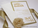 Pozivnice za vjenčanje zlatne tipografske