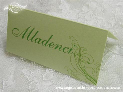 ime gosta za stol u zelenoj boji