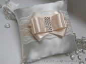 Wedding rings pad - White Peach
