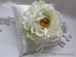 WlWGANT White Flower ring pillow