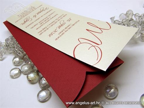 jeftina moderna pozvinica za vjencanje