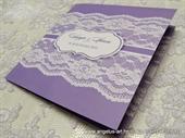 Pozivnica za vjenčanje - Lace Line Colors