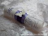 jelovnik na vjenčanju zarolan s leptirom