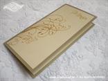 jelovnik s tiskom za svadbenu svečanost šampanj zlatni
