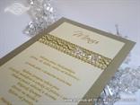 jelovnik za stol na vjenčanju zlatno krem s leptirima