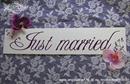 just married ljubicasta tablica za automobil