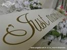 Just married tablice za vjencanje zlatne