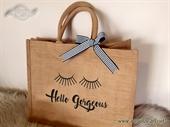 Jutena torba sa natpisom Hello Gorgeous