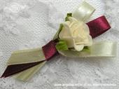 Kitica i rever za vjenčanje Bordo ruža
