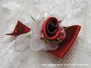 Kitica za rever - Red Satin Rose