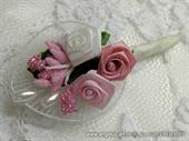 Kitica za rever za goste vjenčanja - Pink Petal Roses