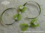 kitice i reveri bijelo zeleni s ružom i perlicom