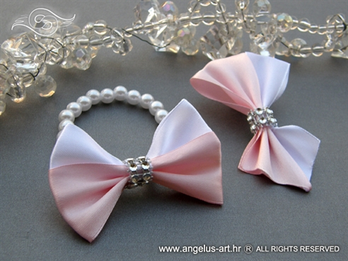 White Pink Bow