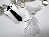 Boutonniere and bracelet - Tie & Lace Dress