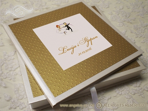 Gold Dots Guestbook