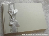 Knjiga gostiju za vjenčanje Bijela mašna