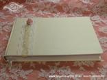 knjiga dojmova za vjenčanje bijelo rozo romantična