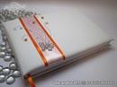Knjiga gostiju za vjenčanje Leptirov let - orange