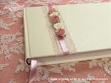 knjiga gostiju za vjenčanje ružičasto bijela