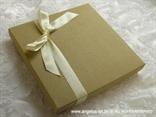 knjiga jastučić za vjenčanje krem natural u drvenoj kutiji