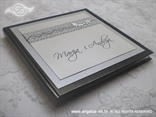 knjiga za vjenčano prstenje srebrna s imenima mladenaca