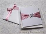 knjigica za prstenje roza traka
