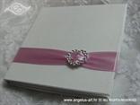 knjizica za vjencano prstenje rozo bijela sa srcem